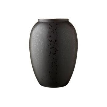 Vază din gresie ceramică Bitz Basics Black, înălțime 20 cm, negru poza bonami.ro