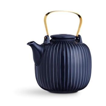 Ceainic din porțelan Kähler Design Hammershoi, 1,2 l, albastru închis bonami.ro