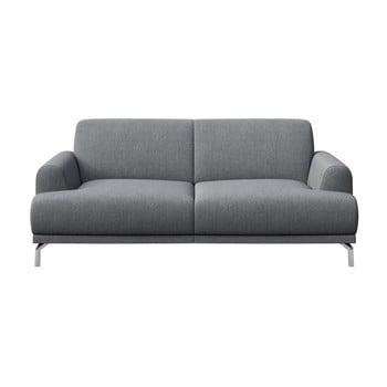 Canapea cu 2 locuri MESONICA Puzo, gri deschis bonami.ro