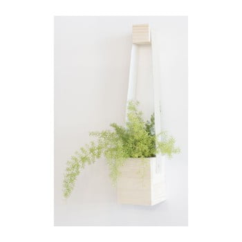 Ghiveci din lemn de brad Surdic Colgante, 17 x 62 cm, alb bonami.ro