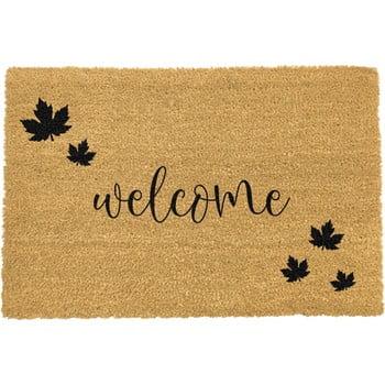 Covoraș intrare din fibre de cocos Artsy Doormats Welcome Autumn, 40 x 60 cm, negru bonami.ro