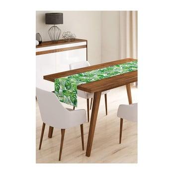 Napron din microfibră pentru masă Minimalist Cushion Covers Green Jungle Leaves, 45x145cm bonami.ro