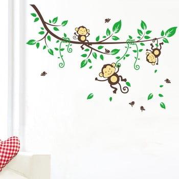 Autocolant Monkeys on Tree bonami.ro