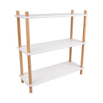 Etajeră cu picioare din bambus Leitmotiv Cabinet Simplicity, 80 x 82.5 cm, alb bonami.ro