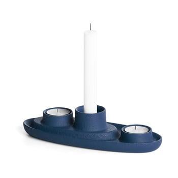 Sfeșnic EMKO Aye Aye Three Candle, albastru închis poza bonami.ro