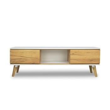 Comodă TV cu aspect de lemn SKANDICA Jorgen imagine