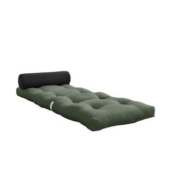Saltea pliabilă Karup Design Wrap Olive Green/Dark Grey poza bonami.ro