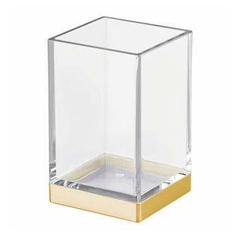 Cană din plastic pentru baie cu detalii aurii InterDesign bonami.ro