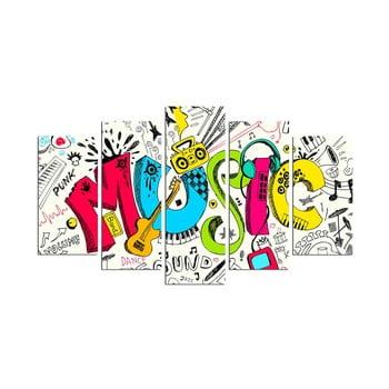 Tablou din mai multe piese Music Color bonami.ro