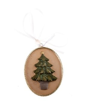 Decorațiune suspendată cu motive copac Dakls, lungime 5,5 cm bonami.ro