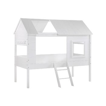Pat în formă de casă pentru copii Vipack Charlotte, alb bonami.ro