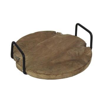 Tavă din lemn de tec, cu mânere, HSM collection bonami.ro