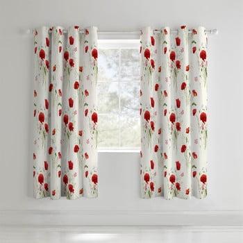 Set 2 draperii Catherine Lansfield Wild Poppies, 168x183cm poza bonami.ro