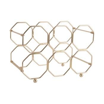 Suport pliabil din metal pentru sticle de vin PT LIVING Honeycomb, auriu bonami.ro