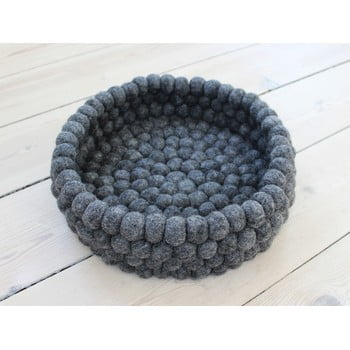 Coș depozitare cu bile din lână Wooldot Ball Basket, ⌀ 28 cm, antracit poza bonami.ro