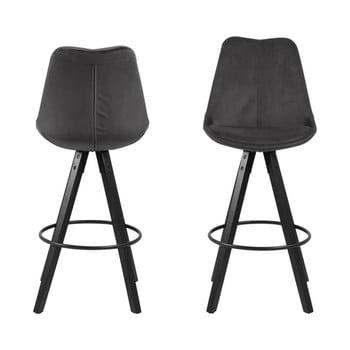 Set 2 scaune bar Actona Dima Bar, gri închis imagine
