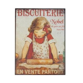 Poster metalic Antic Line Biscuiterie, 35 x 37 cm bonami.ro