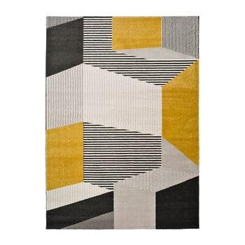 Covor Universal Elle Multi, 140 x 200 cm, gri - galben imagine