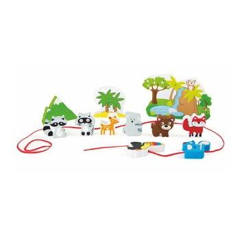 Set jucării din lemn cu șnur Legler Safari bonami.ro