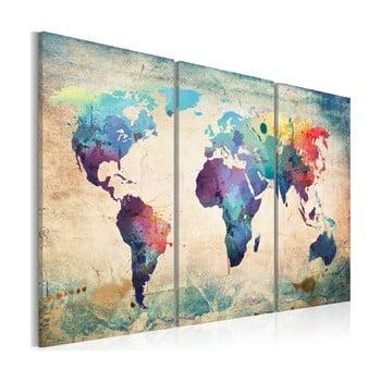 Tablou pe pânză Bimago Rainbow Map 120 x 80 cm poza bonami.ro