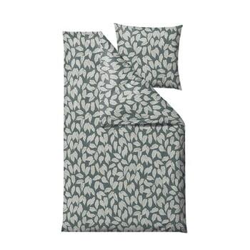 Lenjerie de pat din bumbac satinat pentru pat single Södahl Benjamina,140x220cm, verde