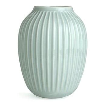 Vază din gresie ceramică Kähler Design Hammershoi, verde mentă, înălțime 25 cm poza bonami.ro