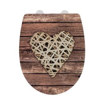 Capac WC cu finisaj lucios Wenko Curly Heart, 45 x 36,5 cm poza bonami.ro