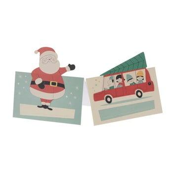 Set 6 insigne pentru nume cu tematică Crăciun Rex London Festive Family bonami.ro