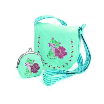 Set geantă și portofel pentru fetițe Djeco, albastru poza bonami.ro