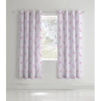 Set 2 draperii pentru camera copiilor Catherine Lansfield Unicorn, 168 x 183 cm roz bonami.ro