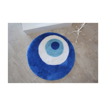 Covor de baie rotund Eye, albastru poza bonami.ro