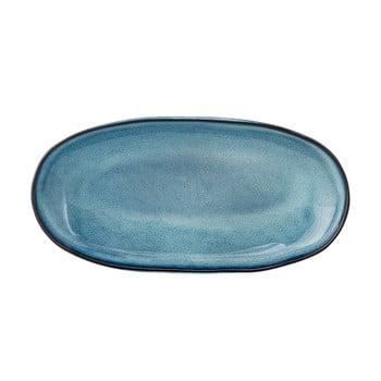 Platou din ceramică Bloomingville Sandrine, albastru bonami.ro