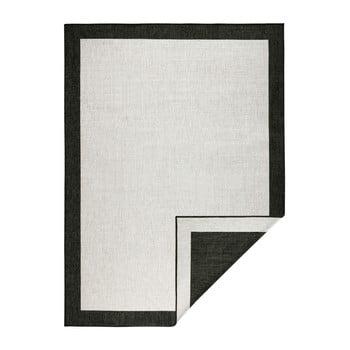 Covor adecvat pentru exterior Bougari Panama, 200 x 290 cm, negru - crem imagine