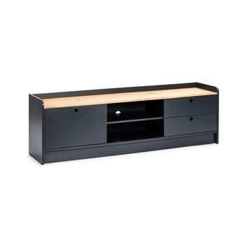 Masă TV cu blat în decor de lemn de pin Marckeric Monte, gri imagine