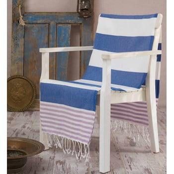 Prosop hammam Antalya Blue, 100x180 cm poza bonami.ro