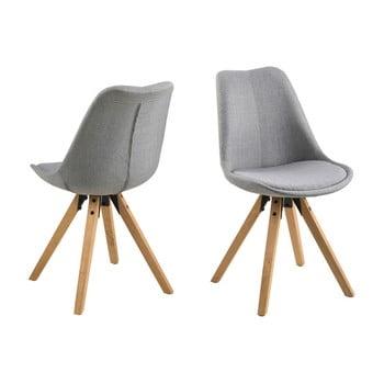 Set 2 scaune Actona Dima, gri deschis imagine
