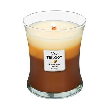 Lumânare în trei straturi cu parfum de prăjitură, vanilie și caramel WoodWick, 55 ore bonami.ro