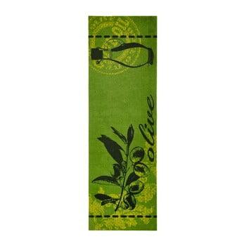 Covor de bucatarie Zala Living A Olive, 50 x 150 cm, verde