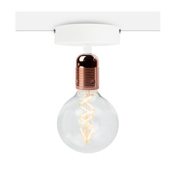 Plafonieră Bulb Attack Uno Basic, alb - arămiu bonami.ro