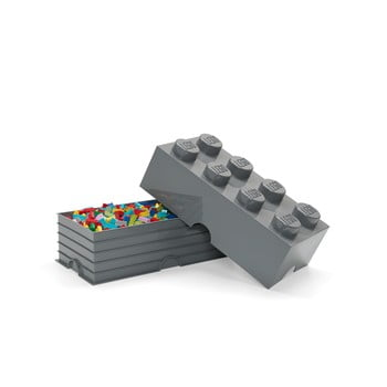Cutie depozitare LEGO® Rectangle, gri închis bonami.ro