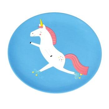 Farfurie Rex London Magical Unicorn, albastru poza bonami.ro