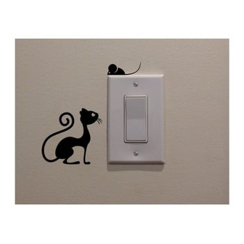 Autocolant decorativ de perete Cat & Mouse, înălțime 11 cm poza bonami.ro