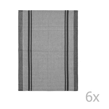 Set 6 prosoape de bumbac Tiseco Home Studio Waffle, 50 x 70 cm, negru bonami.ro