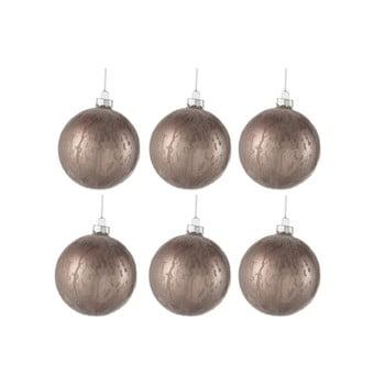 Set 6 globuri din sticlă pentru Crăciun J-Line Anneli, ⌀ 8 cm bonami.ro