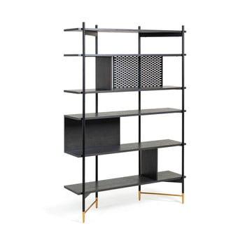 Bibliotecă La Forma Norfort, înălțime 177 cm, negru bonami.ro