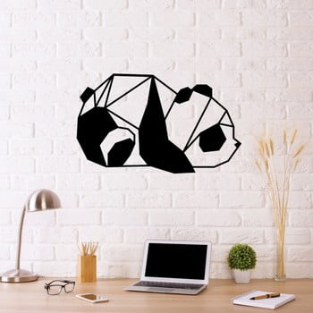 Decorațiune metalică de perete Panda, 55 x 33 cm, negru poza bonami.ro