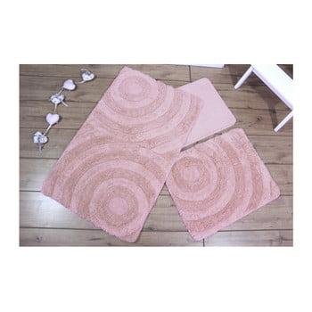 Set 3 covoare baie Adriana, roz poza bonami.ro