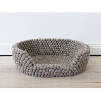 Pat cu bile din lână pentru animale de companie Wooldot Ball Pet Basket, 60 x 40 cm, maro nisip imagine