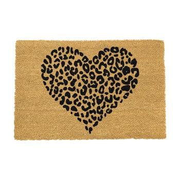 Covoraș intrare din fibre de cocos Artsy Doormats Leopard Pint, 40 x 60 cm poza bonami.ro