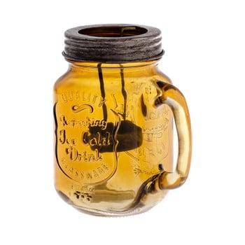 Felinar din sticlă Dakls Rura, protocaliu, înălțime 13,5 cm poza bonami.ro